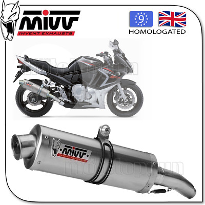 Mivv Approved Exhaust Kat Oval Steel Suzuki Gsf 650 Bandit 2015 15 2016 16