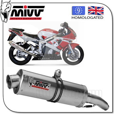 Mivv Approved Silencer Kat Oval Steel Yamaha Yzf 600 R6 2002 02