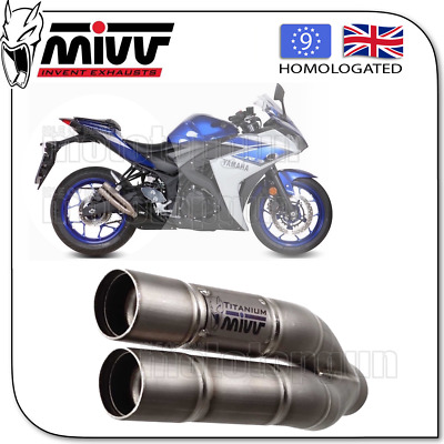 Mivv Approved Exhaust Kat Double Gun Full Titanium Yamaha Yzf R25 2016 16