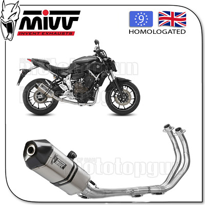 Mivv Complete Exhaust A Speed Edge Steel Carbon Cup Yamaha Mt07 2016 16