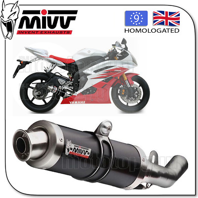 Mivv Approved Exhaust Kat Gp Steel Black Yamaha Yzf 600 R6 2016 16