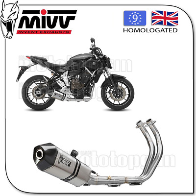 Mivv Complete Exhaust Speededge Steel Carbon Cup Yamaha Mt-07 2016 16
