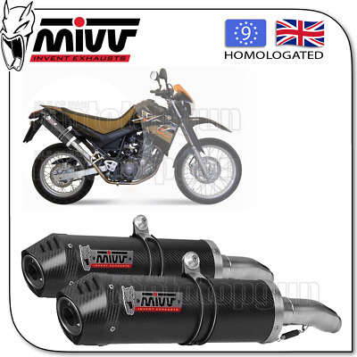 Mivv Approved Silencer Oval Carbon Carbon Cup Yamaha Xt 660 X / R 2008 08