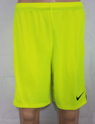 NIKE DRY ACADEMY Mens Soccer Shorts Football Yellow L NWT