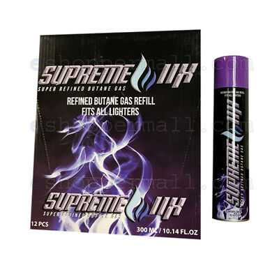 One Can SUPREME 11x Gas Refill Butane Universal Fluid Fuel Ultra Refined 300ml