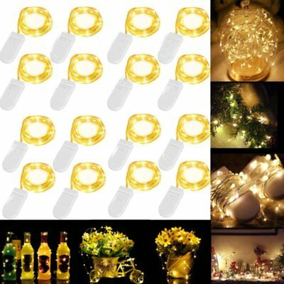 16Pcs/Set 3.3ft/1m 20 LED String Copper Wire Fairy Lights Battery Operated B2
