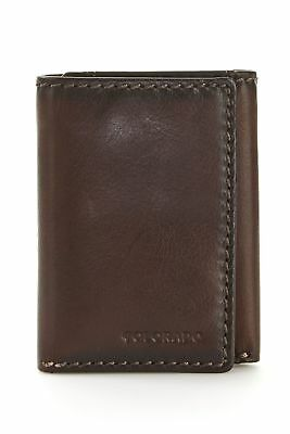 New Leather Colorado Trifold Wallet Mens Trifold Brown by Strandbags