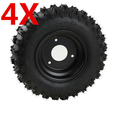 4X 4.10-6 wheel Tire Tyre + Rim for electric Go Kart ATV Mobility Trolley su2
