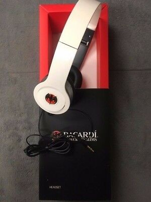 NEW Bacardi Flavored Rum Headphones - White Headset Lightweight Soft Cushioned