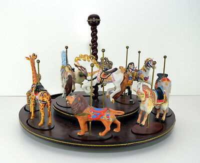 1988 Franklin Mint Treasury Of Carousel 10 Pieces of 13 Piece Display Set