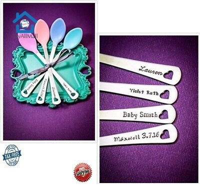 Personalized Baby Spoons BPA Free Feeding Heat Sensitive Durable Stainless Steel