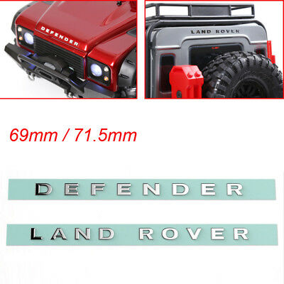 Metal Logo LAND ROVER & DEFENDER sticker for Traxxas TRX4 RC4WD D90 D110 1/10 RC