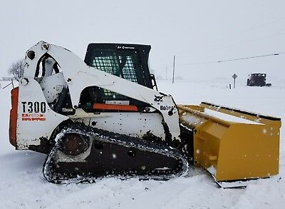 2005 Bobcat T300 Track Skid Steer Loader Diesel Track  Heat/Ac Snow Pusher