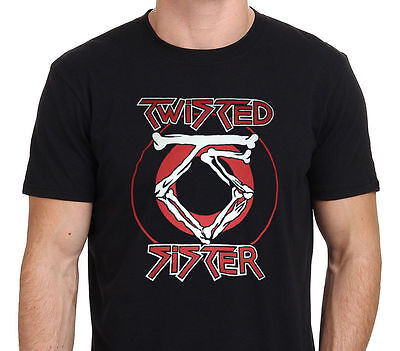 new rare TWISTED SISTER Old School Rock Band Black T-Shirt Size M-5XL