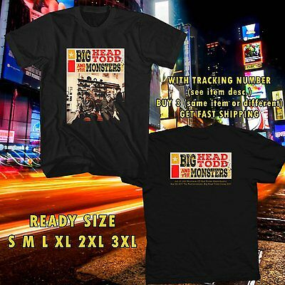 BIG HEAD TOOD AND THE MONSTERS Tour Dates 2017 Logo Black T-Shirt Size M-5XL