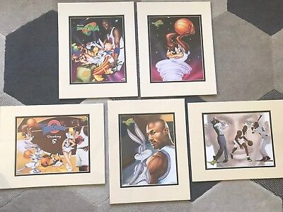 1996 Looney Tunes SPACE JAM Lot of 5 Sealed Lithograph Prints Michael Jordan