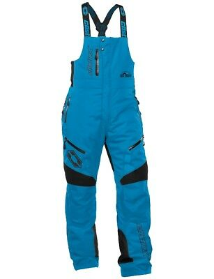 Castle X Back Country Tundra Bib Snowmobile Winter Sports Snow Pant Solid Blue