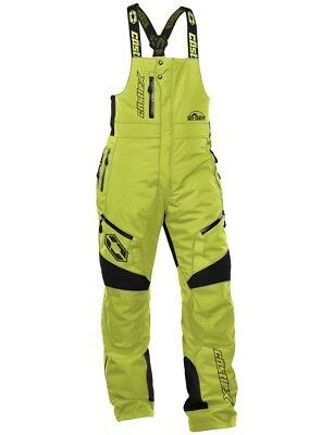 Castle X Back Country Tundra Bib Snowmobile Winter Sports Snow Pant Lime Green