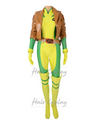Female X-Men Marvel Rogue Costume Anna Marie Cosplay Bodysuit with Jacket Gloves  sc 1 st  PicClick & FEMALE X-MEN MARVEL Rogue Costume Anna Marie Cosplay Bodysuit with ...