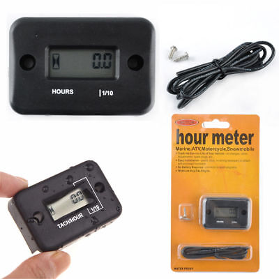LCD Inductive Hour Meter for Motorcycle ATV Snowmobile Marine Boat Yama Ski Dirt
