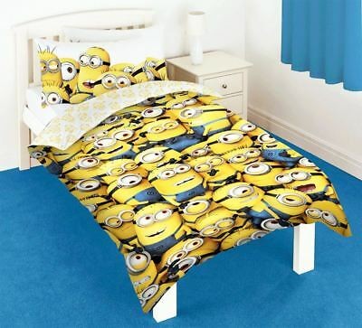 Despicable Me 2 Minions Team Printed Reversible Rotary Single Duvet Cover Set