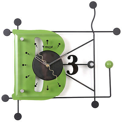 35cm Large Digital Mute Quartz Motion B Alphabetic Wall Clock In outdoor Décor