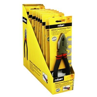 Rolson 200mm Combination Pliers with Wire/Cable Cutter,DIY Hand Tools