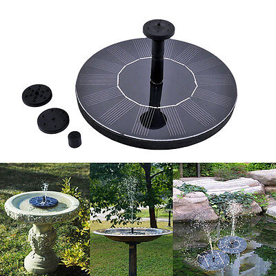Floating Solar Powered Pond Garden Water Pump Fountain Kit Bird Bath Fish Tank