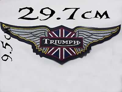 LARGE Quality Iron/Sew on Triumph motorcycle Wings biker Patch Harley Davidson