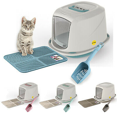 Galaxy Cat Litter Tray Bundle + Tray Mat + Scoop Available in 4 Colours