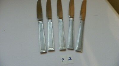 Set Of 5  Hampton  Portfolio  Satin  Dinner Knives Stainless Flatware