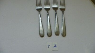 Set Of 4  Stanley Roberts  Beaded Elegance  Stainless Dinner Forks  Rogers
