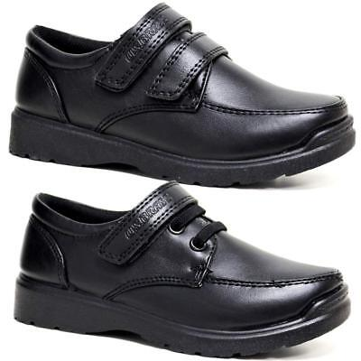 Boys Faux Leather School Shoes Kids Smart Dress Formal Back To School Shoes Size