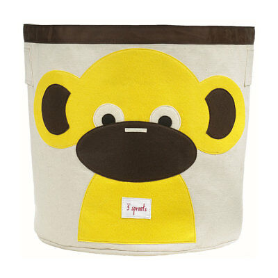 NEW 3 Sprouts Storage Bin - Yellow Monkey