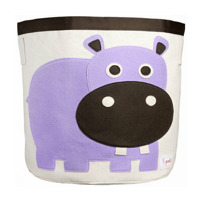 NEW 3 Sprouts Storage Bin - Purple Hippo
