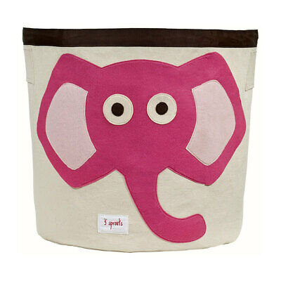 NEW 3 Sprouts Storage Bin - Pink Elephant