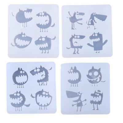 Silicone Pendant Mold Making Jewelry Resin Necklace Mould Monster Craft DIY Tool