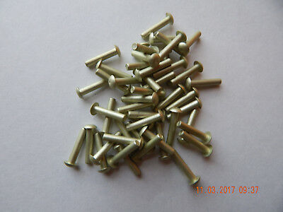 "ALUMINUM SOLID ROUND HEAD RIVETS 1/8 x 5/8"" 100 PCS. NEW"