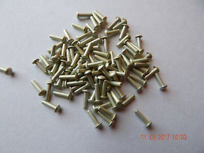 "ALUMINUM SOLID ROUND HEAD RIVETS 3/32 x 3/8"" 100 PCS. NEW"