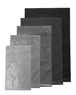 """50 x BAGS 9/"""" x 12/"""" STRONG POLY MAILING POSTAGE POSTAL QUALITY SELF SEAL GREY"""