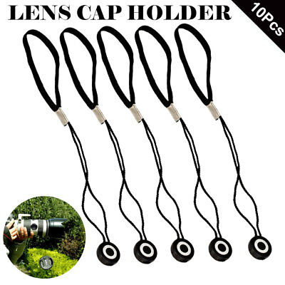 10x Lens Cap Strap Holder String Keeper for Nikon Canon Sony Pentax Front Cover