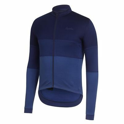 Rapha Navy Long Sleeve Tricolour Jersey. Size Large. BNWT.