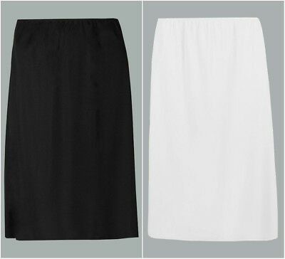 ex MS WAIST SLIP IN BLACK & WHITE HALF SLIP ANTI STATIC UNDERSKIRT UNDERWEAR