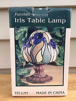 New Iris Table Light Candle Lit