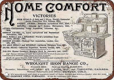 "7"" x 10"" Metal Sign - 1897 Wrought Iron Range Home Comfort Stove - Vintage Look"