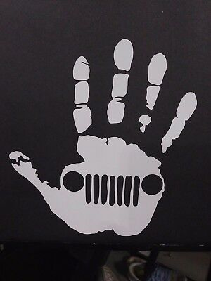 Jeep Wave Vinyl Decal for laptop windows wall car boat