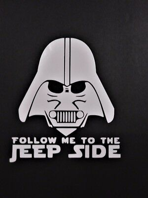 Follow Me to the Jeep Side Vinyl Decal for laptop windows wall car boat