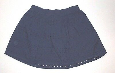 New Nwt Girls Baby Gap Navy Blue Hole Punch Pleat Skirt Size 3 3T