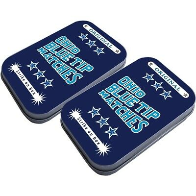 Ohio Blue Tip Safety Matches Light On Tin Container 250 Count