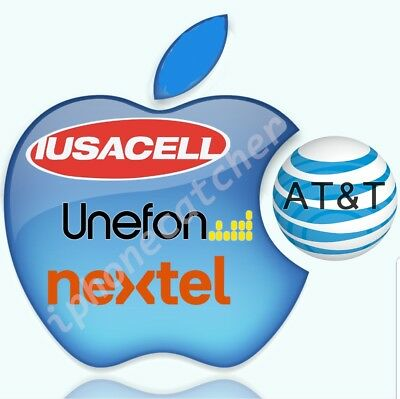 MEXICO AT&T lusacell Unefone Nextel iPhone Xr, Xs, Xs Max Premium Unlock Service